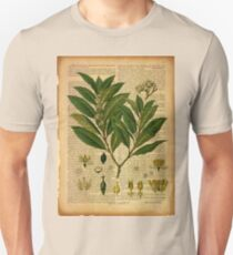 Botanical print, on old book page Unisex T-Shirt