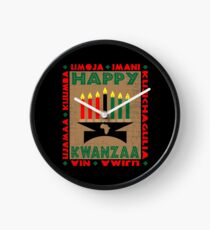 Happy Kwanzaa Clock