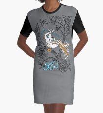 Song Bird Graphic T-Shirt Dress