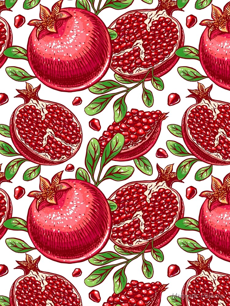 Pomegranate Print by MagneticMama