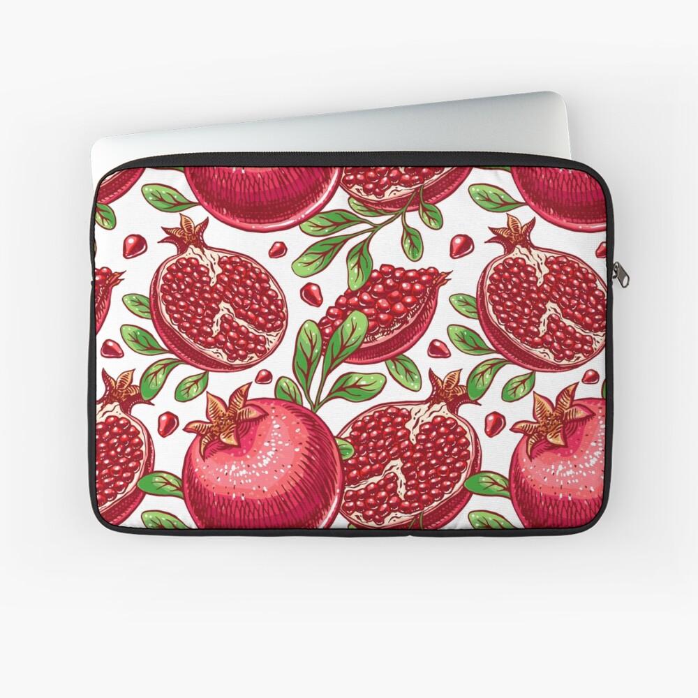 Pomegranate Print Laptop Sleeve