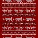 Ugly Christmas sweater dog edition - Lapponian herder - Lapinporokoira red by Camilla Mikaela Häggblom