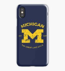 Michigan + Nickname - Vintage & Retro iPhone Case
