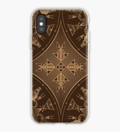 Buffalo Gathering Brown iPhone Case