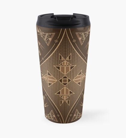 Buffalo Gathering Brown Travel Mug