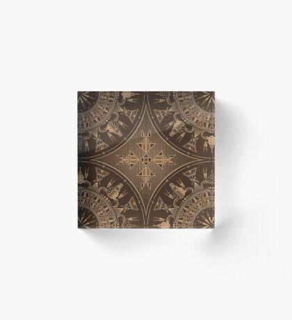 Buffalo Gathering Brown Acrylic Block