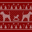 Ugly Christmas sweater dog edition - Schnauzer red by Camilla Mikaela Häggblom