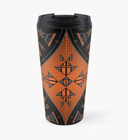 Buffalo Gathering Orange Travel Mug