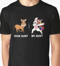 Your Aunt My Aunt Funny Cute dabbing Unicorn T-shirt  Graphic T-Shirt
