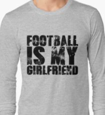 Football is my Girlfriend Love Football Player shirt Baseball Heart Football is Life Gifts for Him Football T-Shirt