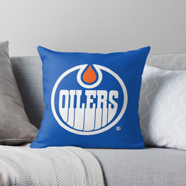Oilers Logo Throw Pillow