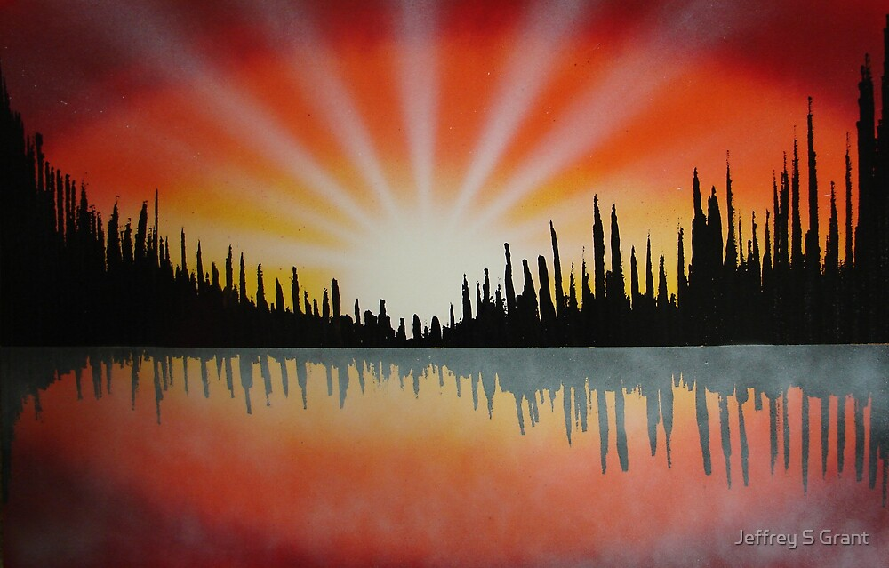 Red Hot Sunset by Jeffrey S Grant