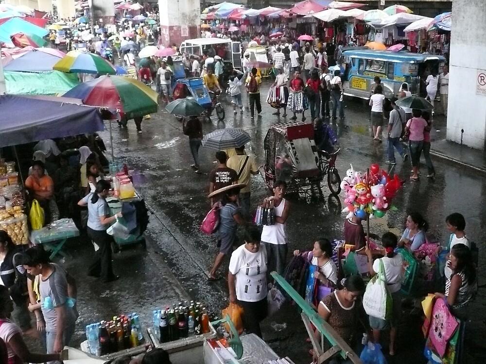 Street Market in Manila by kaytsu
