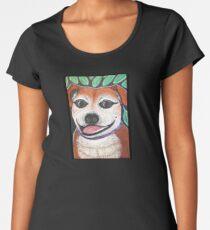 Sweet Staffy in the garden Women's Premium T-Shirt