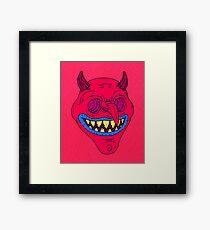 Grinning Devil Design Framed Print