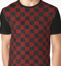 SQUARE1 BLACK MARBLE & RED GRUNGE Graphic T-Shirt