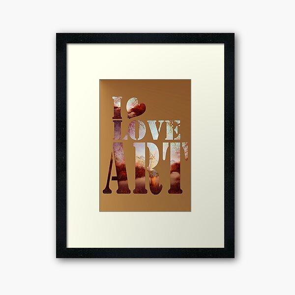 heART of the river Framed Art Print