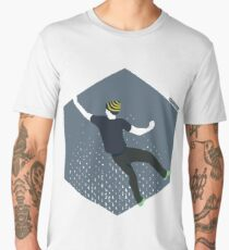 bouldering man Men's Premium T-Shirt
