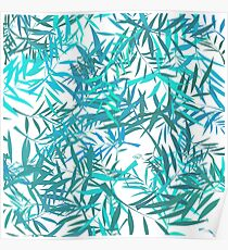 Blue Willow Leaves Poster