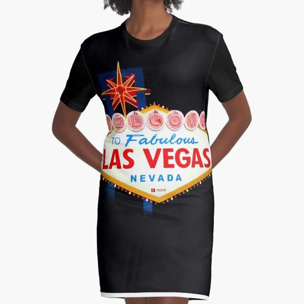 Welcome to Fabulous Las Vegas Graphic T-Shirt Dress