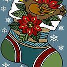 Birdnest Stocking by Ameda