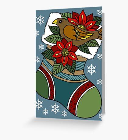 Birdnest Stocking Greeting Card