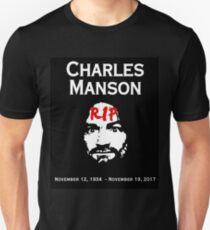 Charles Manson - RIP - Graphic - Macabre Pop Culture  Unisex T-Shirt