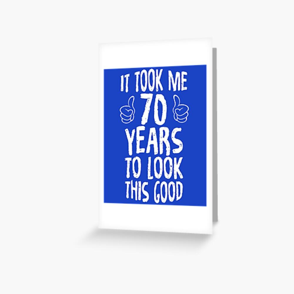 70. Geburtstagsgeschenk Grußkarte