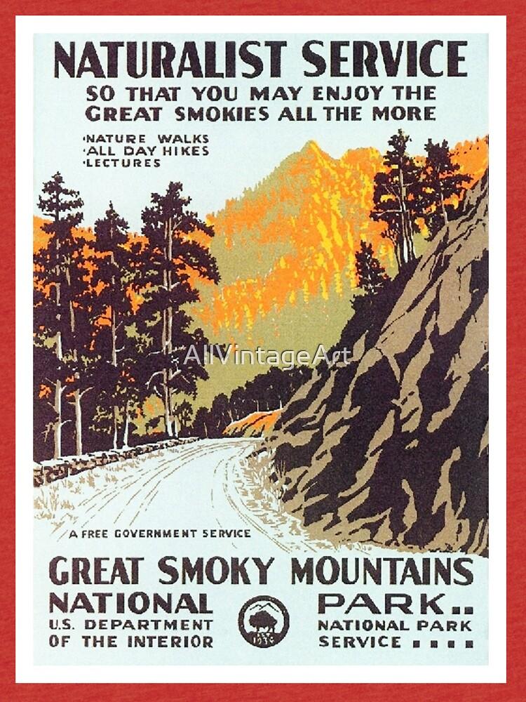 Vintage National Park Travel Poster by AllVintageArt
