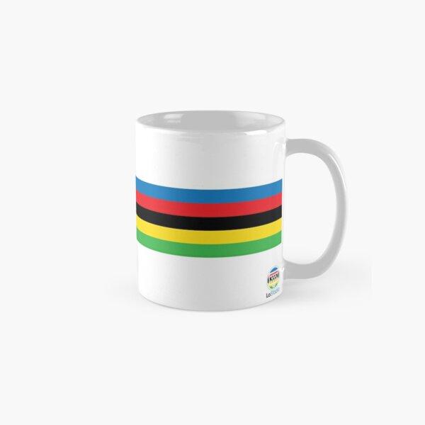 Campeón del mundo de ciclismo Rainbow Stripes Taza clásica