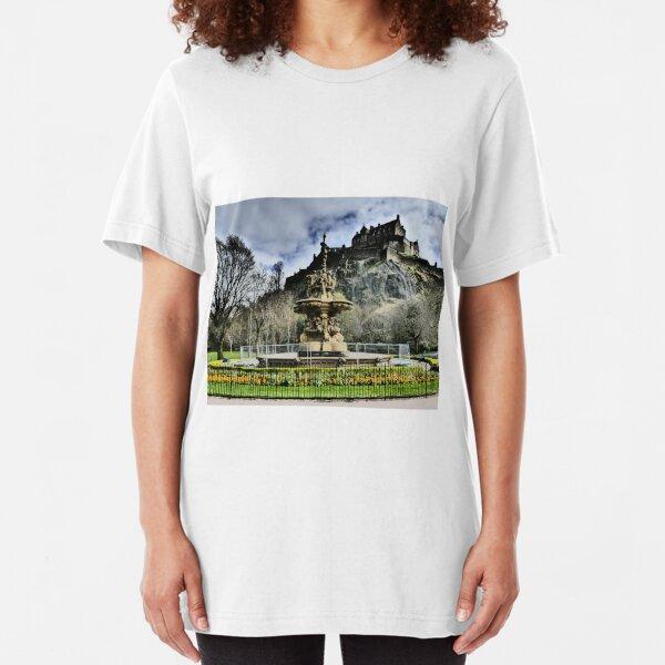 Edinburgh Castle HDR Slim Fit T-Shirt