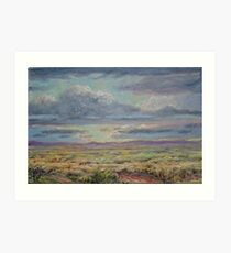 Clouds over the Plains Art Print