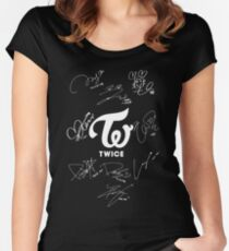 TWICE - Signed With Logo Women's Fitted Scoop T-Shirt