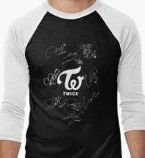TWICE - Signed With Logo Men's Baseball ¾ T-Shirt