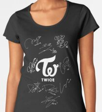 TWICE - Signed With Logo Women's Premium T-Shirt