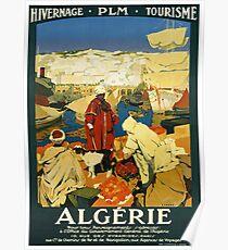 Weinlese Algerie Afrika Reise Poster Poster