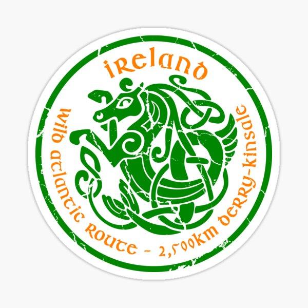 Wild Atlantic Route, Ireland - Celtic Sea Horse T-Shirt Sticker 01 Sticker