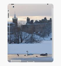 Snowy Linlithgow Palace ( Wentworth Prison in  Outlander) iPad Case/Skin