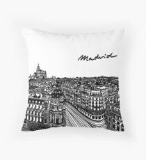 Gran via, Madrid - Spain Throw Pillow