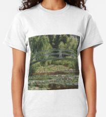 Claude Monet, French, 1840-1926  'The Japanese Footbridge and the Water Lily Pool, Giverny' Classic T-Shirt
