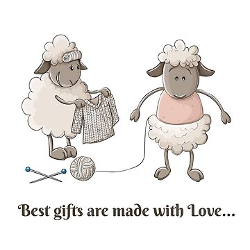 Cute sheep characters with pullover for Christmas by creaschon