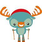 Ski moose by Kopfzirkus