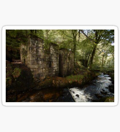 Ruined Gunpowder Mill - Cornwall Sticker