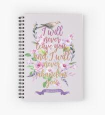 HEBREWS 13:5 Spiral Notebook