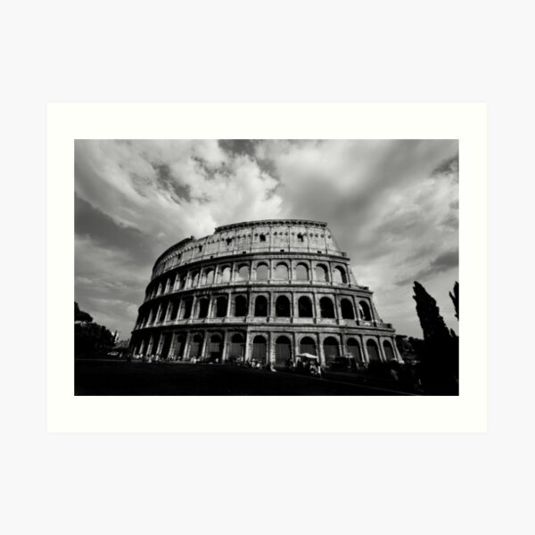 Colosseum in Black and White Art Print