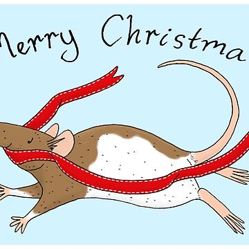 Merry Christmas Rat by sillybadger