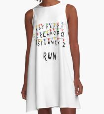 Stranger Things Lamp Run A-Line Dress