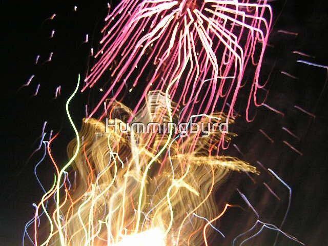 Jellyfish fireworks by Hummingbyrd
