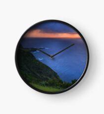 Sunset over the ocean Clock
