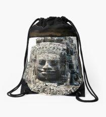 Angkor face Drawstring Bag